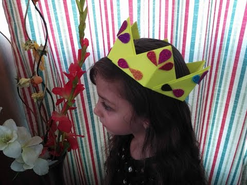 DIY Paper Crafts for Kids - How to Make a Crown out of Paper + Tutorial !