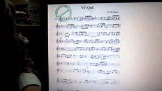 Hướng dẫn thổi sáo: Về quê 1- sáo trúc Cao Trí Minh