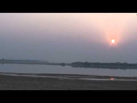 SUNSET AT RIVER MAHANANDI,ODISHA.