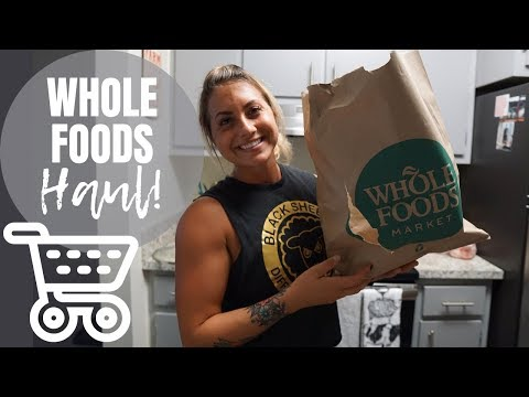 My Favorite Whole Foods Items ( WHOLE FOODS HAUL) / Training VLOG
