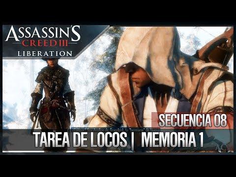 Assassin's Creed Liberation HD Walkthrough   Secuencia 8   Tarea de locos (CONNOR KENWAY)  1  100%