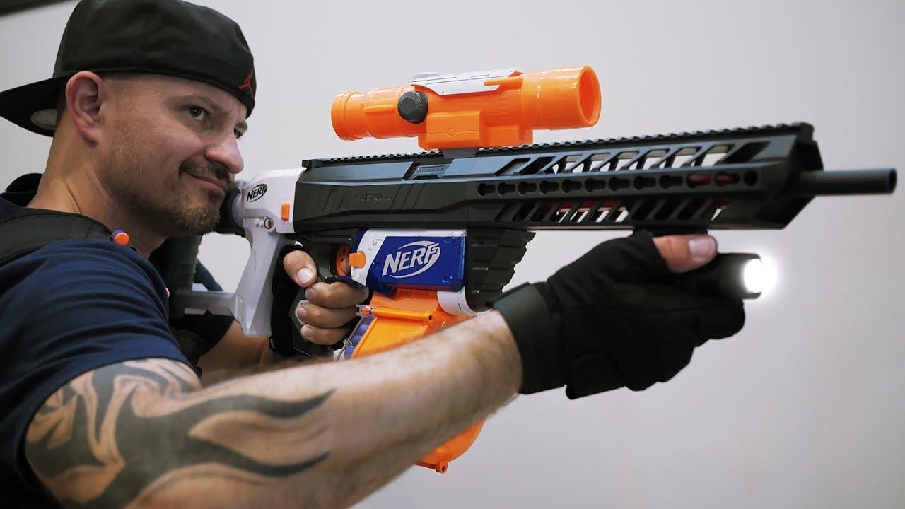 nerf machine gun war
