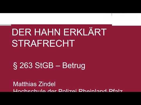 Der Hahn Erklärt Strafrecht - § 263 StGB Betrug