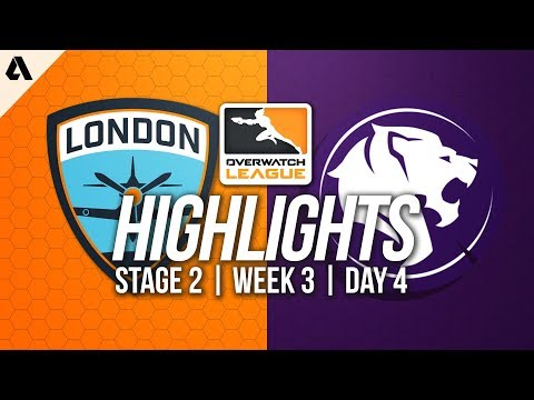London Spitfire vs Los Angeles Gladiators | Overwatch League Highlights OWL Stage 2 Week 3 Day 4