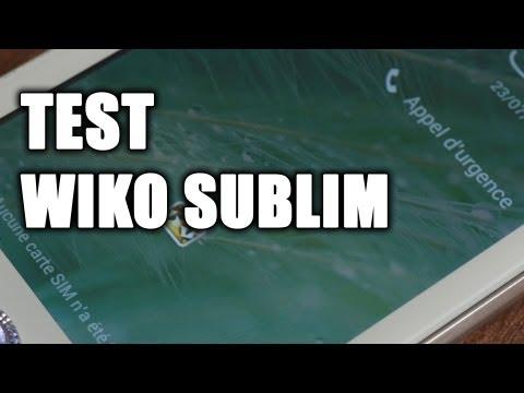 Test Wiko Sublim - prise en main, démonstration