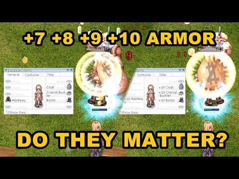 Differences In +0 To +10 Armor In Renewal/Classic-Revo Ragnarok