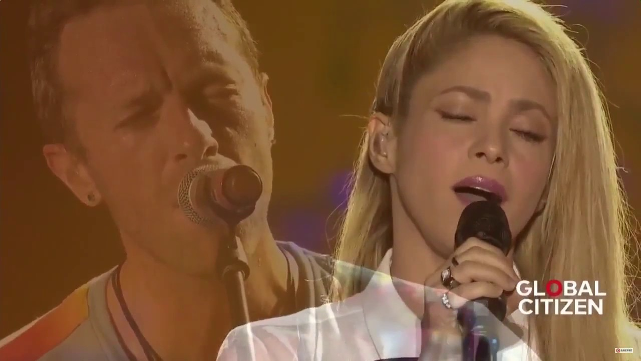 8f524cf977c Coldplay ft Shakira - Yellow live at Global Citizen Festival Hamburg ...