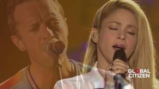 Coldplay ft  Shakira - Yellow live at Global Citizen Festival Hamburg