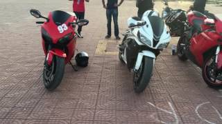 Ducati 848, Ktm super Duke, Honda cbr 600 and Honda cbr 1000