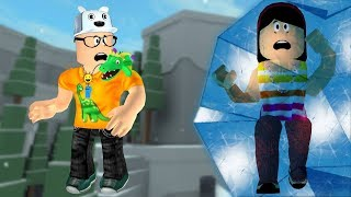 ROBLOX: MY MOTHER AND I IN: THE LAST ONE THAT IS FROZEN WINS! -Play Old man