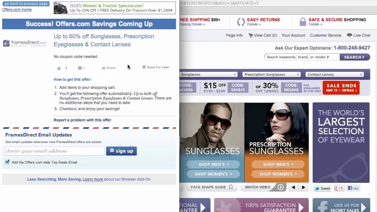 FramesDirect Coupon Code - How to use Promo Codes and Coupons for ...
