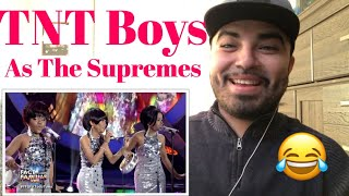 "Reaction TNT Boys as The Supremes "" Can't Hurry Love"""
