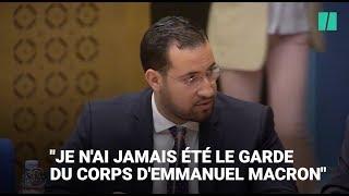 """Alexandre Benalla : """"je n'ai jamais été le garde du corps d'Emmanuel Macron"""""""