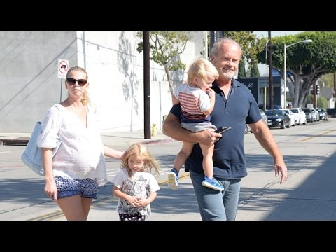Kelsey Grammer Wears A Big Smile On Day Out With His Young Family