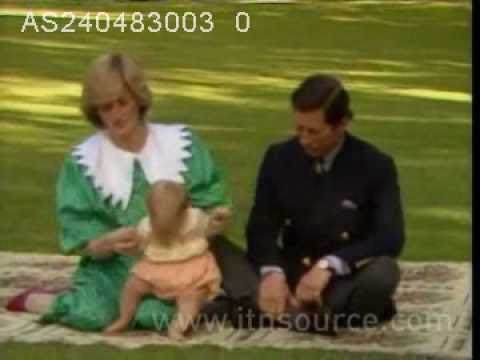 Princess Diana with baby William in New Zealand