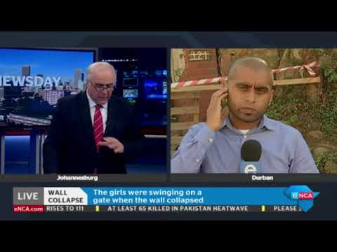 Dasen Thathiah updates on Durban wall collapse