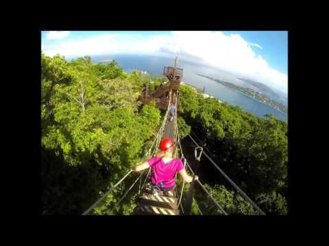 Extreme Ziplining in St. Thomas at Tree Limin'