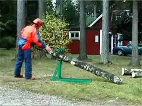 Smart-Holder Firewood Holder / Sawhorse - YouTube
