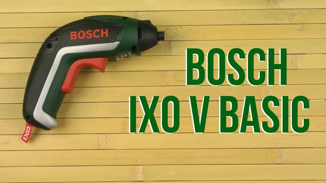 bosch ixo v basic youtube. Black Bedroom Furniture Sets. Home Design Ideas
