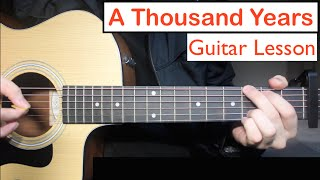 A Thousand Years - Christina Perri | Guitar Lesson (Tutorial) Chords
