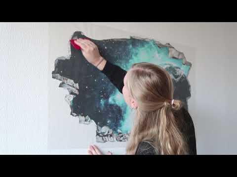 How To Apply A 3D Wall Sticker - Tutorial - Wall-art.com