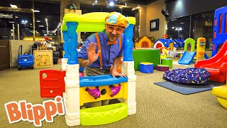 Blippi Visits an Indoor Playground | Go Buster! | Bus Cartoons for Kids! | Funny Videos & Songs