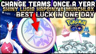 YOU CAN SOON CHANGE TEAMS IN POKEMON GO | SHINY LUGIA HAPPINY & 100 MUNCHLAX IN ONE DAY