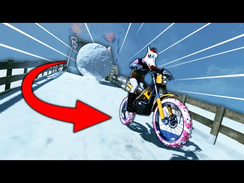 I GOT CRUSHED BY A GIANT SNOWBALL! (Trials Rising) |