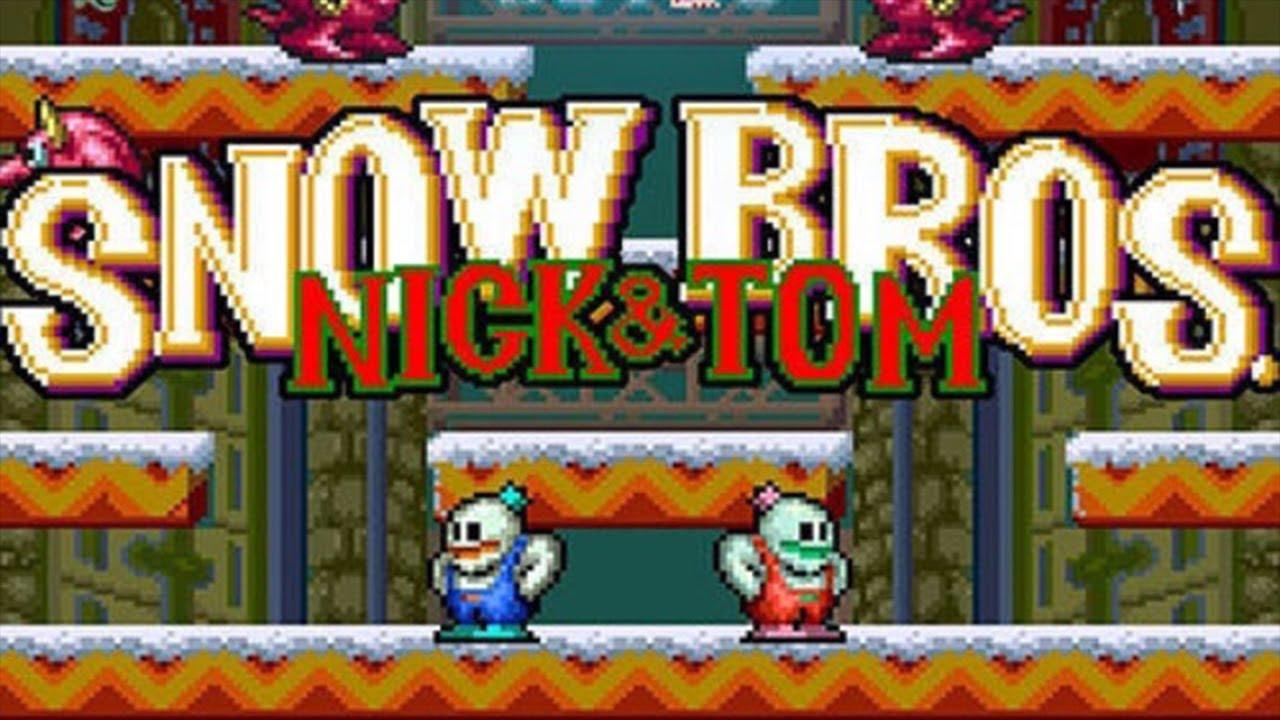Snow Bros Juegos De Arcade Viejitos Gameplay Completo Serie Lo