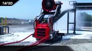 Firefighting Robot TAF vs Poolfire, EmiControls and Magirus