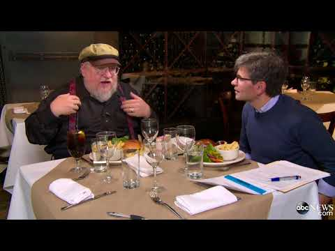 2014 George R. R. Martin   Burgers & Books: George Stephanopoulos with George R.R. Martin