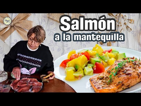 Riquísimo SALMÓN A LA MANTEQUILLA CON PEREJIL