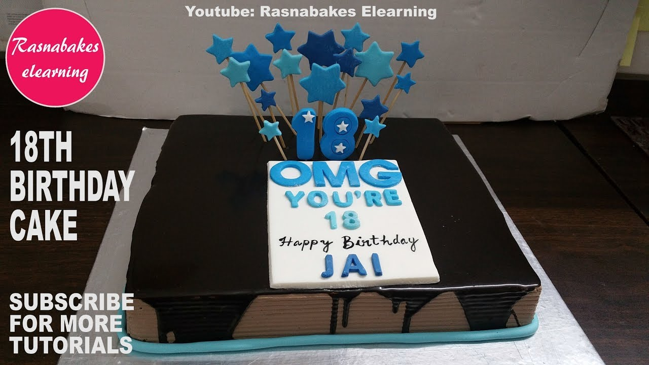 Happy 18th Birthday Cake Design Gifts Ideas For Teen Boys Youtube