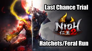 NIOH 2 Last Chance Trial Demo Gameplay Full Playthrough - Hatchets/Tonfas/Feral Run [PS4 Pro]