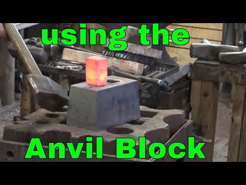 Forging hardy tools using an anvil block - blacksmith tools