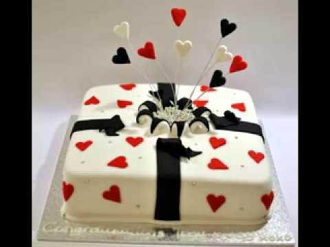 Engagement Cake Decorating Ideas : Engagement cake decor ideas - YouTube