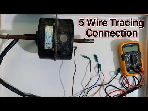 5 Wires Single Phase Fan Motor Trace Connections H M L Wire Make Connections Youtube