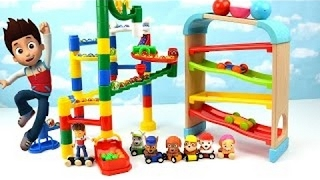 Learn Colors Video Paw Patrol Toddler Kids Learning Children Toy Marble Gumball Maze Race Drop Cars