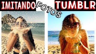 IMITANDO FOTOS TUMBLR NA PRAIA 2 - Muita Diversão