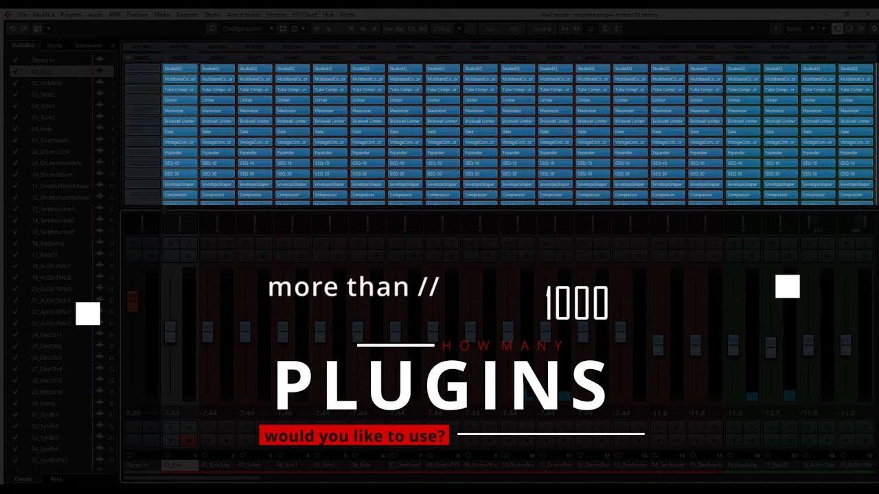 Workstation Project Lead con 3000 Plugin a 16 sample di latenza