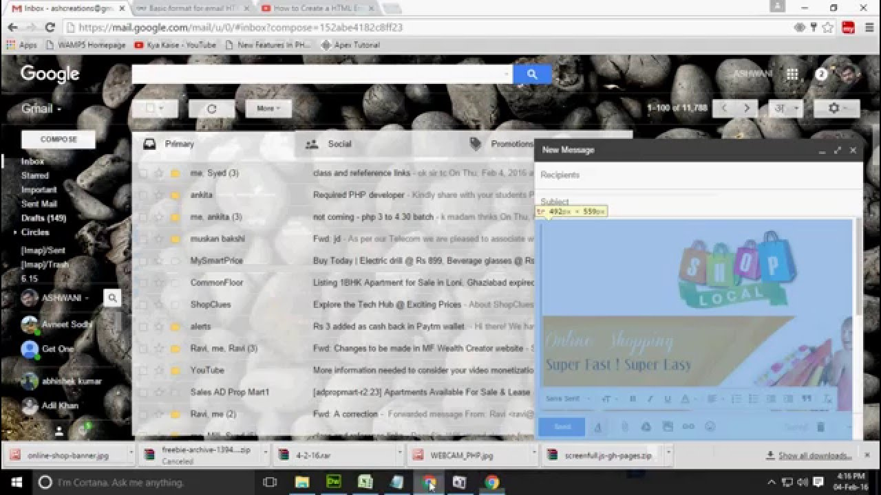 How to Send an HTML Email through Gmail | Newsletter through Gmail ...