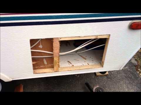 Storage / Baggage door installation into popup trailer / tent trailer Mp3