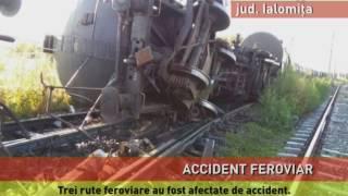 Un tren cu vagoane cisternă pline cu combustibil a deraiat la Țăndărei