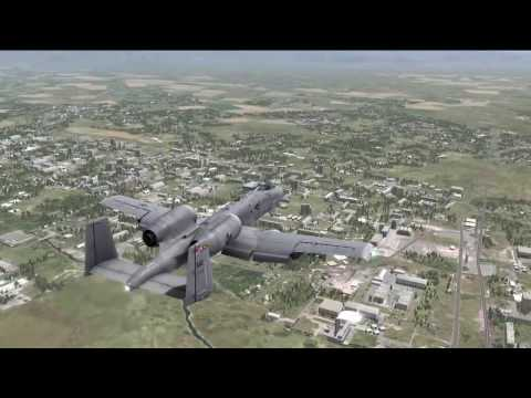 A-10C flight from Mineralnye Vody to Kutaisi