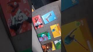 Ouverture d'un starter pack de carte de fortnite battle Royale