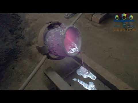 Aluminium Sand Casting Live demo    Sand mould