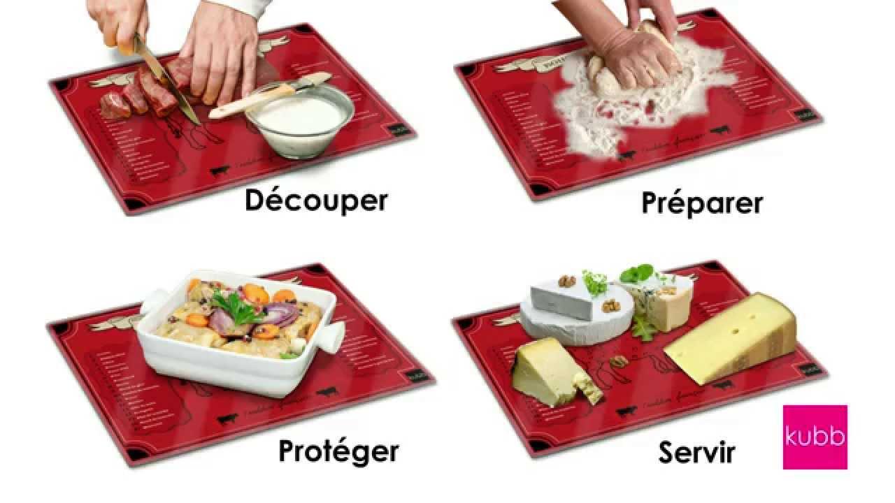 Kubb k051 planche d couper en verre tremp youtube - Planche a decouper cuisine ...