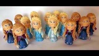 Lembrancinha Elsa / Anna Frozen Biscuit Porcelana Fria