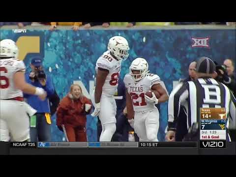 Texas vs West Virginia Football Highlights