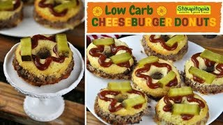 Ein Low Carb Burger in neuer Form: Low Carb Cheeseburger Donuts! Low Carb Rezepte Abendessen